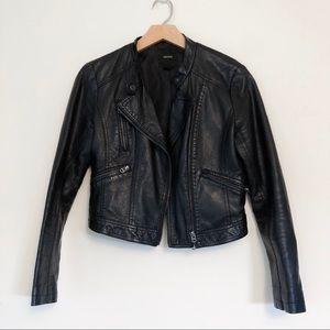 F21 Black Biker Leather Jacket